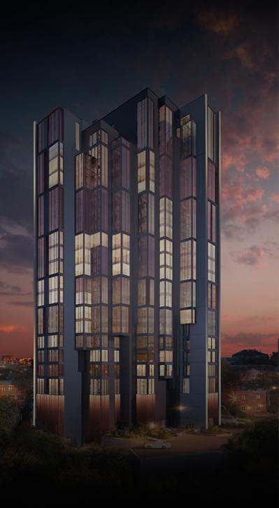 подсветка здания ЖК Академический