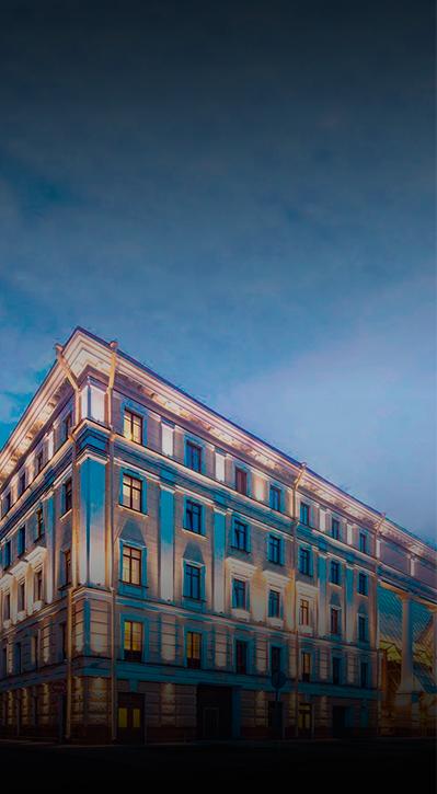 подсветка здания БЦ Литейный
