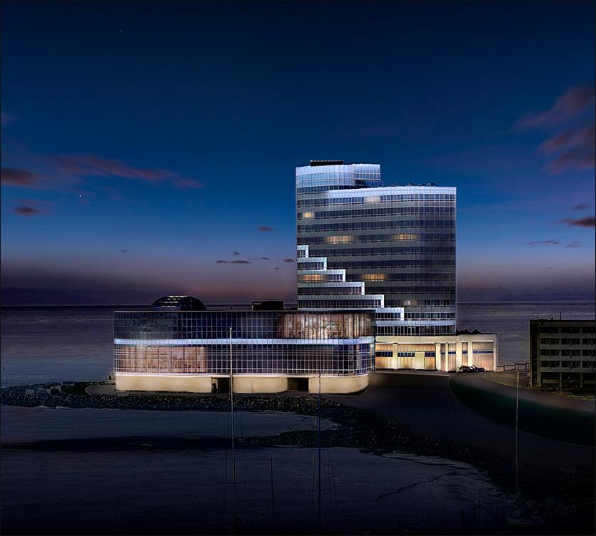 архитектурное освещение отель Хайят