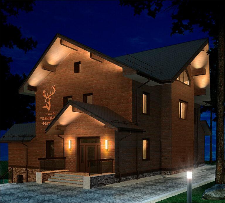 архитектурное и ландшафтное освещение парк олений