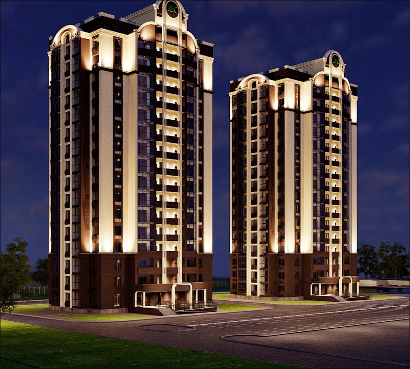 архитектурная подсветка жилой комплекс адмирал