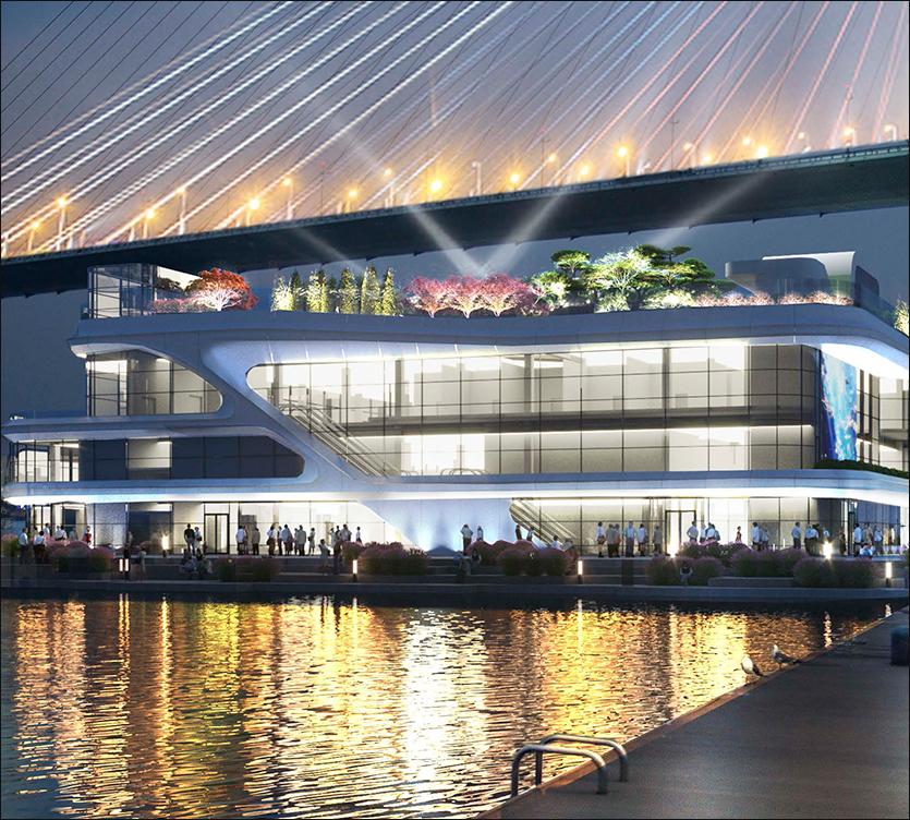 проект архитектурного освещения рыбный рынок