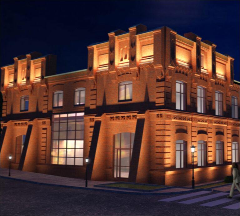 архитектурное освещение набережная цесаревича