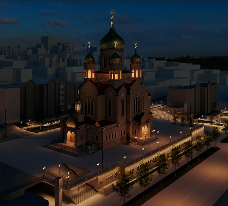 архитектурная подсветка кафедрального собора владивосток