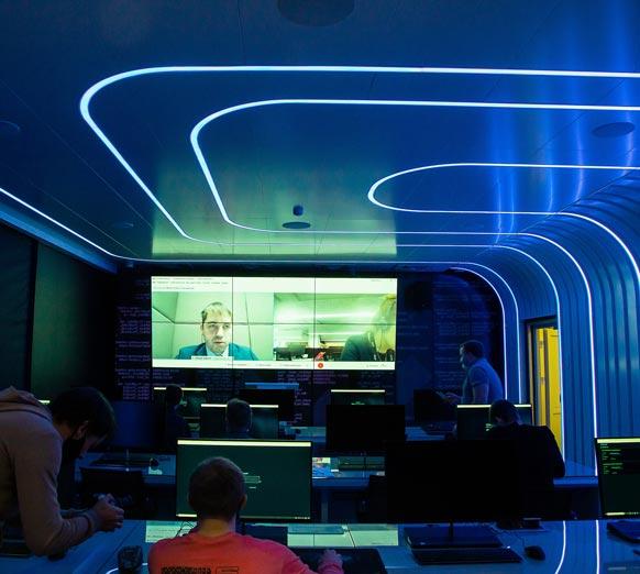 дизайнерское освещение светодизайн киберполигон