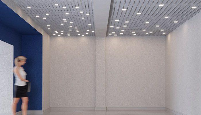 CHECKERS DIFF светильник для модульных потолков