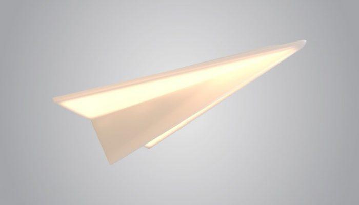 paper plane подвесной светильник